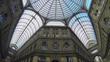 NAPLES, ITALY - CIRCA DECEMBER 2013: Umberto I Gallery — Stock Video