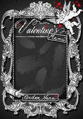 Tableau vintage pour menu s Saint-Valentin — Vecteur