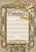 Vintage Graphic Page for Valentine s Menu — Vettoriale Stock