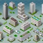 Isometric Buildings  — Stock Vector #42337525
