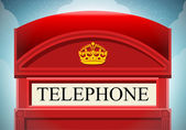 English Red Telephone Cabin  — Stock Vector