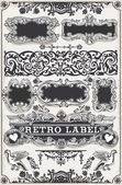 Vintage Hand Drawn Graphic Banners and Labels — Stock Vector