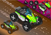 Isometric Quad Bike in Front View — Vecteur