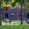 Harvard Yard Scene - Stock Photo