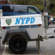 Stock Photo: NYPD Emergency Service Generator
