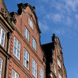 Hanseatic Trader Houses in Hamburg Facing Right — Stock Photo #18543461