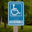 Stock Photo: Accessible Disabled Parking Sign