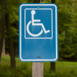 Disabled Parking Sign — Stock Photo #21390905