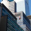 Midtown Manhattan Office Facades — Stock Photo