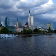 Stock Photo: Ominous Clouds over Frankfurt