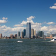 Jersey City Skyline from Harbor — Stock Photo