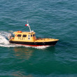 Pilot Boat Steaming through Caribbean Ocean — Stock Photo
