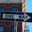 Stock Photo: One Way Sign NYC