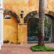 Historic Colonial Courtyard in Colombia — Stock Photo