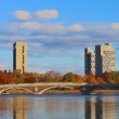 Harvard Towers over the Charles — Stockfoto