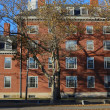 Harvard College Dorms in Fall — Stock Photo