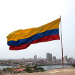 Colombian Flag over Cartagena — Stock Photo
