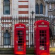 Red London Telephones — Stock Photo
