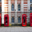 Red London Phone Booths — Stok fotoğraf