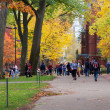Stock Photo: People in Harvard Yard