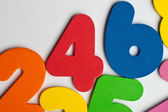 The number 4 in a group of ascending numbers — Stock Photo