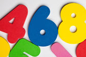 The number 6 in a group of ascending numbers — Stock Photo