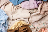 Pile of assorted dish rags — Foto Stock