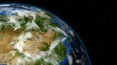 Loopable Earth Rotation HD NTSC PAL — Stock Video