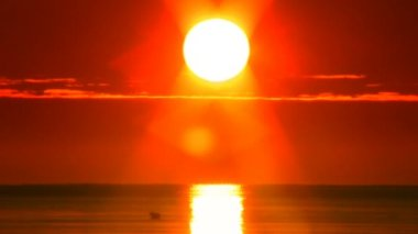 Sunset over the sea 7 — Wideo stockowe