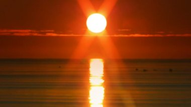 Sunset over the sea 8 — Wideo stockowe