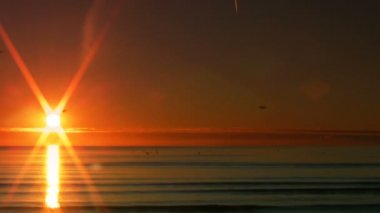 Sunset over the sea 10 — Wideo stockowe