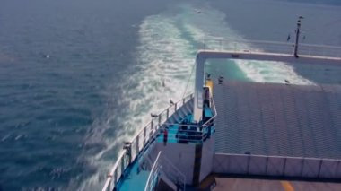 Ferry Moving 1 Timelapse — Wideo stockowe