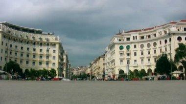 Thessaloniki, řecko, aristotelova náměstí — Stock video