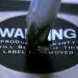 Destroying warranty label 1 — Stock Video