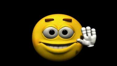 Looping Emoticon Animation: Hi — Stock Video