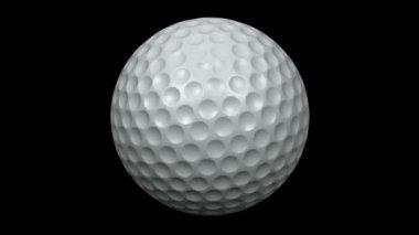 Looping Golf Ball Animation 1 — Stock Video
