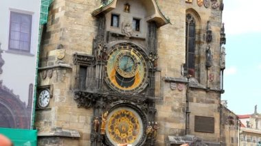 Prague Astronomical Clock 37 — Stok video