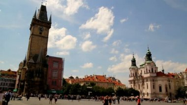 Prague Old Town Square 41 — Stockvideo