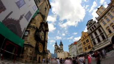 Prague Old Town Square 44 Timelapse — Stock Video