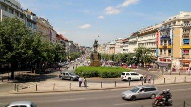 Prague Wenceslas Square 22 — Stock Video