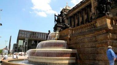 Prague Wenceslas Square 23 — Stock Video