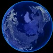 Seamless Loop Earth Animation 19. Night view — Stock Video #13226670