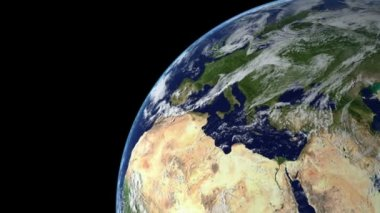 Earth Animation 13 over northern hemisphere. Part 1 of 4 — Stock Video