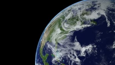 Earth Animation 14 over northern hemisphere. Part 2 of 4 — 图库视频影像