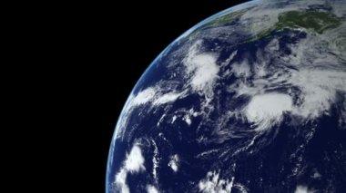 Animazione terra 15 sopra l'emisfero settentrionale. parte 3 di 4 — Video Stock