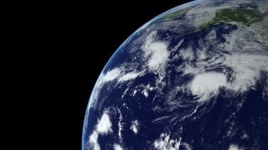 Earth Animation 15 over northern hemisphere. Part 3 of 4 — Stock Video
