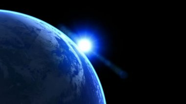 3d Earth Animation 25 alpha matte — Stock Video
