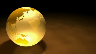 3d Glassy Earth Animation Alpha Matte — Stock Video