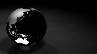 3d Glassy Earth Animation Alpha Matte — Vídeo de stock
