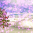 Winter Scene 04 Light Purple Snow  — Stock Video